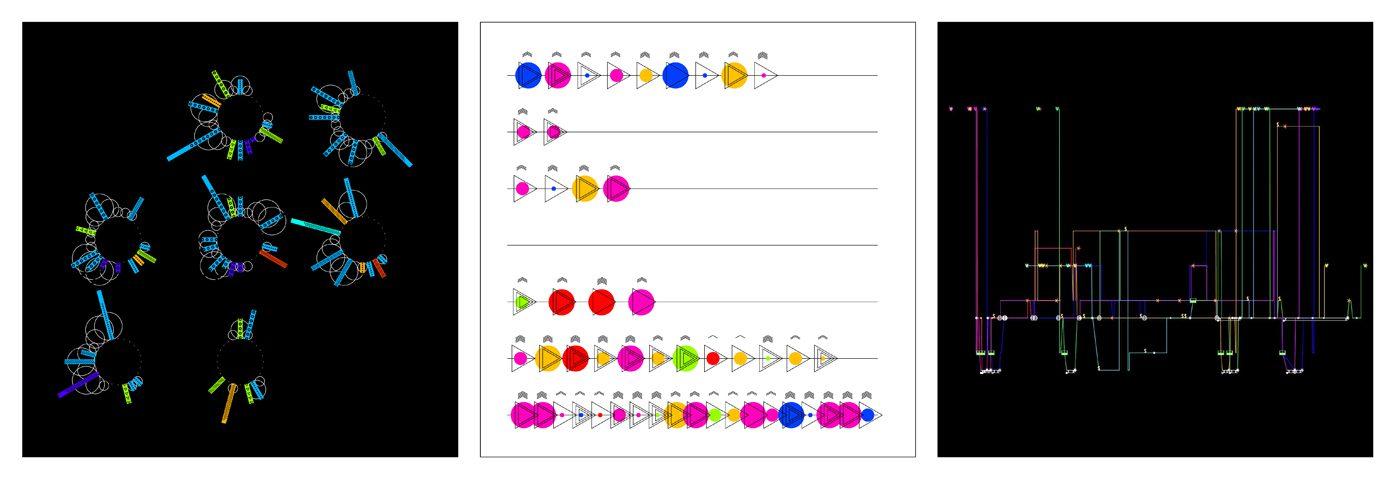Foundation과정 'Creative Computation' 수업 소개 첨부 이미지 -  일상의 데이터 수집하고 시각화하기(좌로부터 박정원, 조현진, 김아연)