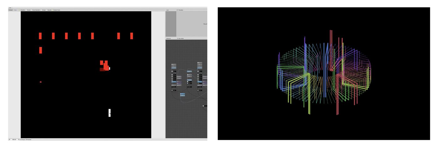Foundation과정 'Creative Computation' 수업 소개 첨부 이미지 -  마우스 인터랙션(손석훈), 사운드 인터랙션(서세화)