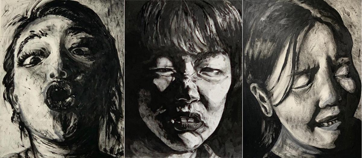 Foundation과정 'Drawing Studio' 수업 소개 첨부 이미지 -  Chiaroscuro(명암법)를 이용한 인물화